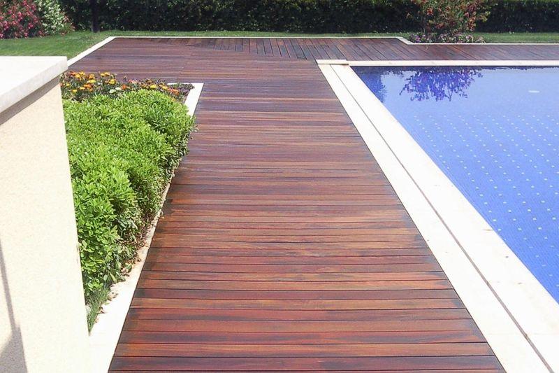 Tarima de madera sintetica para exterior